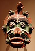 Yagim Mask, 1920-25 Vancouver Island, British Columbia.  Wood, paint.  George Walkus (kwakwaka'wakw, ca 1875-1968). A furtive aggressive sea creature known as Yagim was part of the dramatic Tseyka performance cycle, which took place during the dark winter when life on the North West coast moves largely indoors.