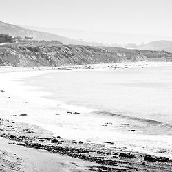 Laguna Beach California panoramic photo.  Panorama photo ratio is 1:3. Laguna Beach is a popular coastal town in Orange County Southern California.