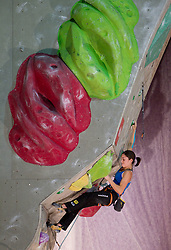 Fifth placed Katharina Posch of Austria during Final IFSC World Cup Competition in sport climbing Kranj 2010, on November 14, 2010 in Arena Zlato polje, Kranj, Slovenia. (Photo By Vid Ponikvar / Sportida.com)