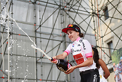 Juliette Labous (FRA) wins the youth classification after Stage 10 of 2019 Giro Rosa Iccrea, a 120 km road race from San Vito al Tagliamento to Udine, Italy on July 14, 2019. Photo by Sean Robinson/velofocus.com