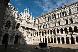 The courtyard of the Doge's Palace, San Marco, Venice, Italy.<br /> Photo: Ed Maynard<br /> 07976 239803<br /> www.edmaynard.com