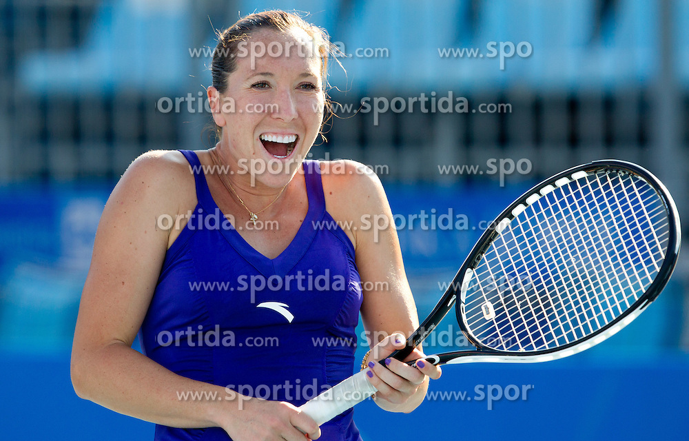 Jelena Jankovic of Serbia at 1st Round of Doubles at Banka Koper Slovenia Open WTA Tour tennis tournament, on July 19, 2010 in Portoroz / Portorose, Slovenia. (Photo by Vid Ponikvar / Sportida)