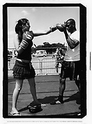 Female boxing, Catford, UK, 2010