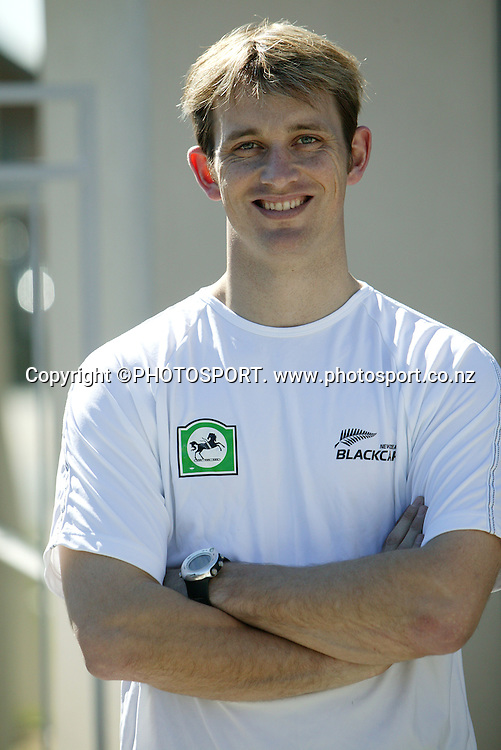 Black Caps cricketer Shane Bond during a photoshoot, Christchurch, New Zealand, on Tuesday 12 September 2006. Photo: Andrew Cornaga/PHOTOSPORT<br />