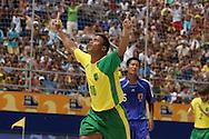 Footbal-FIFA Beach Soccer World Cup 2006 -  Oficial Games BRA x JPN -Benjamin celebrates the Goal- Brazil - 05/11/2006.<br />Mandatory Credit: FIFA/Ricardo Ayres