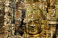 A close-up of typical bayon faces, Bayon Temple, Siem Reap, Cambodia