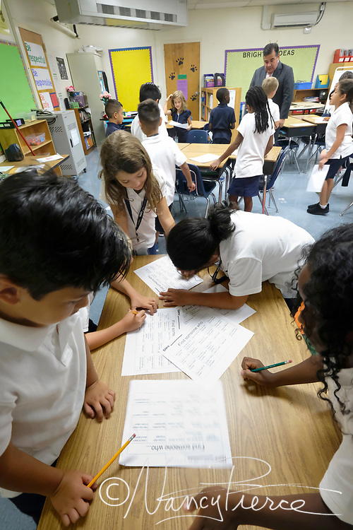 """First Day - Collinswood  children doing getting to know you"""" project, engaging Clayton Wilcox"""