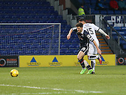 Dundee&rsquo;s Kane Hemmings scores the opening goal - Ross County v Dundee, Ladbrokes Premiership at Victoria Park<br /> <br />  - &copy; David Young - www.davidyoungphoto.co.uk - email: davidyoungphoto@gmail.com