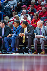 NORMAL, IL - January 07: Jase Herl, Corey Gipson, Dana Ford and Michael Collins during a college basketball game between the ISU Redbirds and the University of Missouri State Bears on January 07 2020 at Redbird Arena in Normal, IL. (Photo by Alan Look)