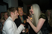 CHRISTOPHER BAILEY; MARIO TESTINO;  LILY MCMENAMY; KRISTIN MCMENAMY;, Afterparty for Burberry  Spring/Summer 2010 Show. Horseferry House. Horseferry Rd. London sW1.  London Fashion Week.  22 September 2009.