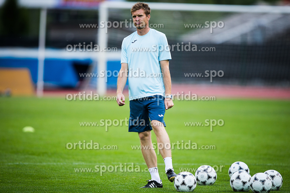 Simon Rozman during practice session before football match between NK Domzale and FC Lusitanos Andorra in second leg of UEFA Europa league qualifications on July 6, 2016 in Andorra la Vella, Andorra. Photo by Ziga Zupan / Sportida
