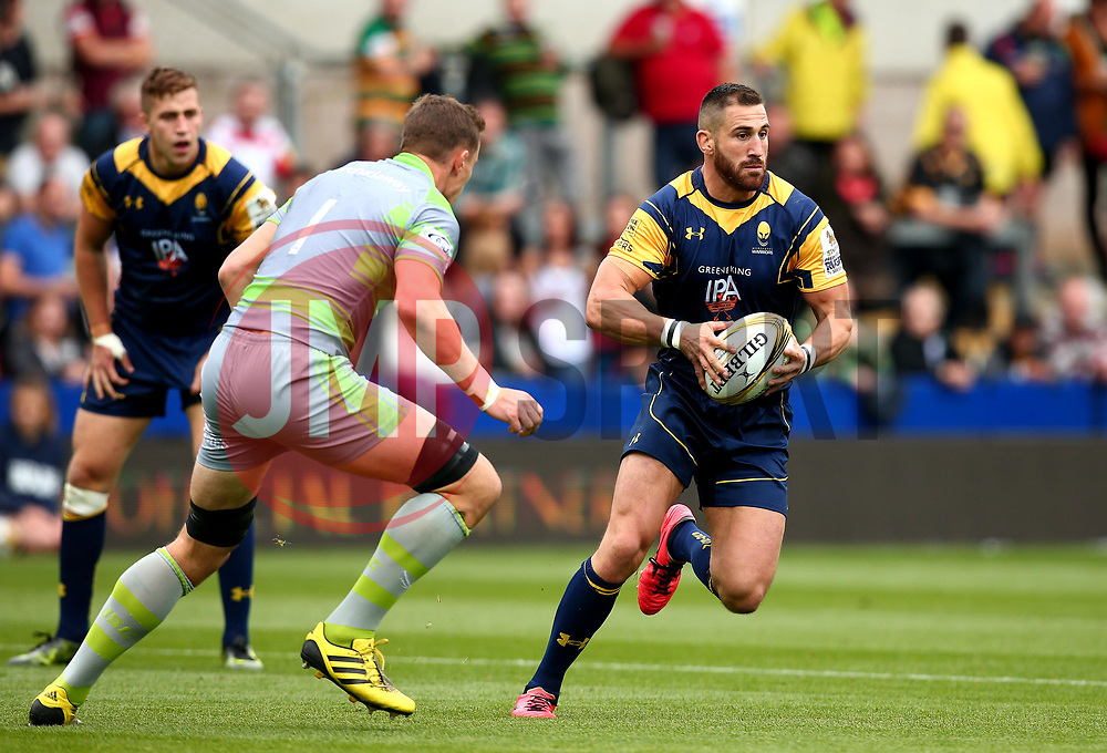 Matt Cox of Worcester Warriors runs with the ball - Mandatory by-line: Robbie Stephenson/JMP - 29/07/2017 - RUGBY - Franklin's Gardens - Northampton, England - Worcester Warriors v Newcastle Falcons - Singha Premiership Rugby 7s