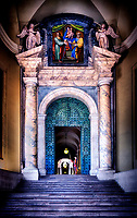 """The Pontifical Swiss Guard protects the bronze door of the Vatican – Rome""…<br />