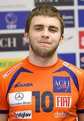 Uros Kovacevic at press conference of volleyball club ACH Volley before new season 2010/2011, on November 5, 2010, in Ljubljana, Slovenia. (Photo by Vid Ponikvar / Sportida)