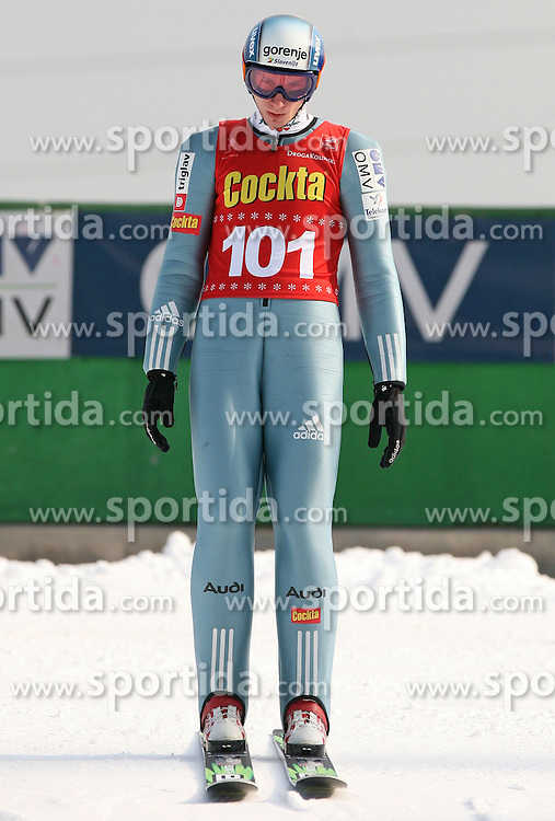 Robert Kranjec of  SK Triglav, first place at Slovenian National Championship in Ski Jumping on February 12, 2008 in Kranj, Slovenia . (Photo by Vid Ponikvar / Sportal Images).