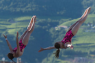 Team RUSSIA - KULEMINA Olga CHERNYKH Elena<br /> Bolzano, Italy <br /> 22nd FINA Diving Grand Prix 2016 Trofeo Unipol<br /> Diving<br /> Women's 3m synchronised springboard final <br /> Day 01 15-07-2016<br /> Photo Giorgio Perottino/Deepbluemedia/Insidefoto