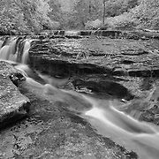 Sweet Creek Lower Cascade Falls - Mapleton, Oregon - Infrared Black & White
