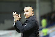 Burnley Manager Sean Dyche  during the Sky Bet Championship match between Burnley and Derby County at Turf Moor, Burnley, England on 25 January 2016. Photo by Simon Davies.