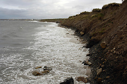 Coastal erosion Whitley Bay; Tyneside UK