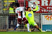 """Fotball , 27. August 2012, Tippeligaen Eliteserien<br /> Fredrikstad FK - Aalesund FK<br /> Sten Grytebust slipper inn Mouhamed """"Momo"""" Gueye sin redusering til 3-1<br /> Foto: Sjur Stølen , Digitalsport"""