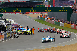 June 16, 2018 - Le Mans, Sarthe, France - Sstart of the 86th edition of the 24 hours of Le Mans 2nd round of the FIA World Endurance Championship at the Sarthe circuit at Le Mans - France (Credit Image: © Pierre Stevenin via ZUMA Wire)