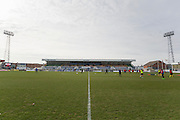 General view of stadium before the Sky Bet League 2 match between Hartlepool United and Dagenham and Redbridge at Victoria Park, Hartlepool, England on 12 March 2016. Photo by George Ledger.