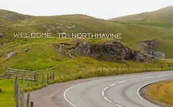 Signs at Mavis Grind Northmavine, north mainland, Shetland Scotland, Uk