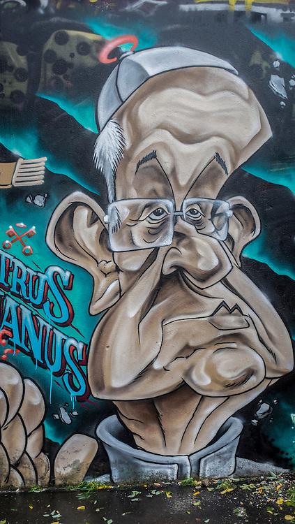 Pope graffiti near the Vatican.