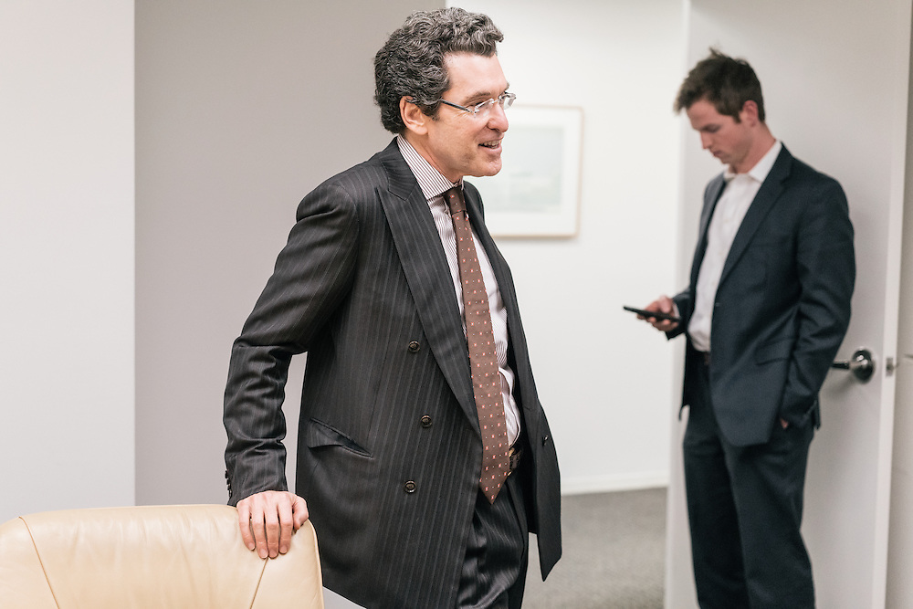 Norman Eisen, current fellow at the Brookings Institution, and former Ambassador to Czech Republic, as well as Special Counsel and Special Assistant to President Obama, talks with Andrew Kenealy at the Brookings Institution in Washington, D.C. on Dec. 5, 2016.