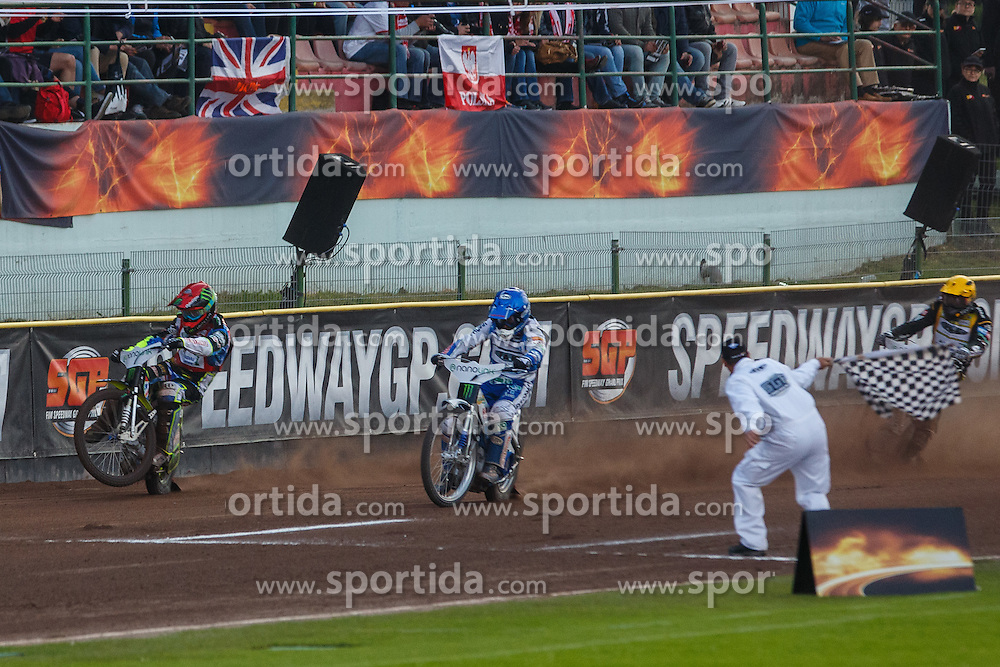 NICKI PEDERSEN of Denmark, CHRIS HOLDER of Australia and ANDREAS JONSSON of Sweden during FIM Speedway Grand Prix World Cup, Krsko, on 30. April, 2016, in Sports park Krsko, Slovenia. Photo by Grega Valancic / Sportida