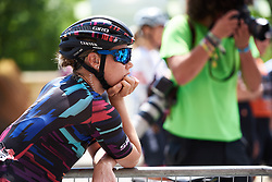 Tiffany Cromwell (AUS) takes in the scene at Emakumeen Bira 2018 - Stage 4, a 120 km road race starting and finishing in Durango, Spain on May 22, 2018. Photo by Sean Robinson/Velofocus.com
