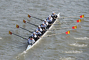 Chiswick, London, Great Britain.<br /> MEC Hungary, Champ eight. competing at the<br /> 2016 Schools Head of the River Race, Reverse Championship Course Mortlake to Putney. River Thames.<br /> <br /> Thursday  17/03/2016<br /> <br /> [Mandatory Credit: Peter SPURRIER;Intersport images]