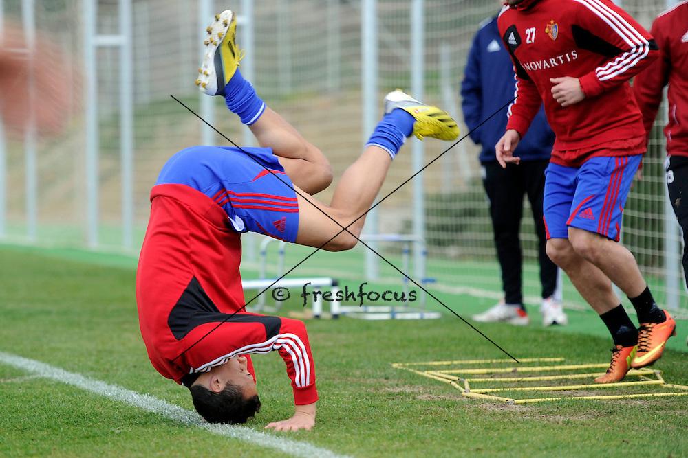 17.01.2013; Estepona; Fussball Super League - Trainingslager FC Basel;<br /> David Degen (Andy Mueller/freshfocus)