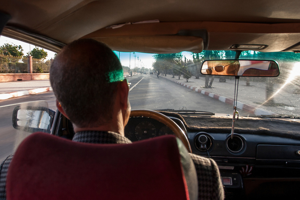Taxi driver in Marrakech, Morocco.