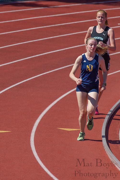 The College of New Jersey's Tara Nealon competes in the women's 5000 meter at the NJAC Track and Field Championships at Richard Wacker Stadium on the campus of  Rowan University  in Glassboro, NJ on Saturday May 4, 2013. (photo / Mat Boyle)