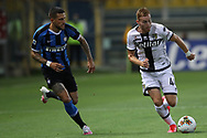 Parma Calcio's Swedish midfielder Dejan Kulusevski breaks away from Inter's Italian defender Cristiano Biraghi during the Serie A match at Stadio Ennio Tardini, Parma. Picture date: 28th June 2020. Picture credit should read: Jonathan Moscrop/Sportimage