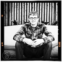 25 February 2012: Enologist Brett Brockmeyer at Cade winery in Howell Mountain, Napa, California.  iPhone Stock Photo