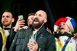 Vid Kavticnik during reception of Slovenian National Handball Men team after they placed third at IHF World Handball Championship France 2017, on January 30, 2017 in Mestni trg, Ljubljana centre, Slovenia. Photo by Vid Ponikvar / Sportida
