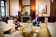 THE HAGUE - King Willem-Alexander receives Minister Cora van Nieuwenhuizen from Infrastructure and Public Works at Noordeinde Palace. robin utrecht<br /> DEN HAAG - Koning Willem-Alexander ontvangt Minister Cora van Nieuwenhuizen van Infrastructuur en Waterstaat op Paleis Noordeinde. robin utrecht