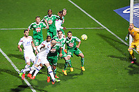 Goal Christophe JALLET - 19.04.2015 - Lyon / Saint Etienne - 33eme journee de Ligue 1<br /> Photo : Jean Paul Thomas / Icon Sport