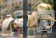 NYC, New York, U.S.  21st May 2013. A statue of the Cartier leopard is seen in the Cartier window, during a pleasant spring day, with a high of 86ºF/32ºC in Manhattan.