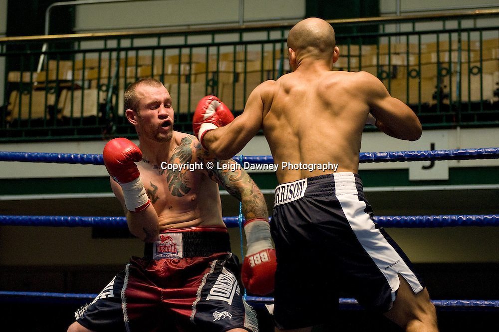 Duncan Cottier v Jamal Morrison at York Hall 4th October 2009. Promoted by David Coldwell,Hayemaker Promotions Credit: ©Leigh Dawney Photography