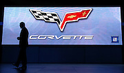 DETROIT, MICHIGAN - USA - Former GM walks off stage after introducing the Corvette at the North American International Auto Show (NAIAS).  (Photo by Bryan Mitchell)