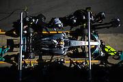 February 26, 2017: Circuit de Catalunya. Pitstop practice for Mercedes AMG Petronas Motorsport and Lewis Hamilton (GBR)