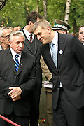 01.08.2006 Warsaw Andrzej Lepper and Roman Giertych vice prime ministers on Powazki Cementery Fot Piotr Gesicki