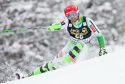 Miha Kuerner (SLO) competes during 1st Run of 10th Men's Slalom race of FIS Alpine Ski World Cup 55th Vitranc Cup 2016, on March 6, 2016 in Podkoren, Kranjska Gora, Slovenia. Photo by Vid Ponikvar / Sportida