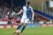 Blackburn Rovers midfielder Ben Marshall  with a cross  during the The FA Cup match between Blackburn Rovers and West Ham United at Ewood Park, Blackburn, England on 21 February 2016. Photo by Simon Davies.