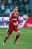 Wisla's Boban Jovic controls the ball during T-Mobile ExtraLeague soccer match between Legia Warsaw and Wisla Krakow in Warsaw, Poland.<br /> <br /> Poland, Warsaw, March 15, 2015<br /> <br /> Picture also available in RAW (NEF) or TIFF format on special request.<br /> <br /> For editorial use only. Any commercial or promotional use requires permission.<br /> <br /> Mandatory credit:<br /> Photo by © Adam Nurkiewicz / Mediasport