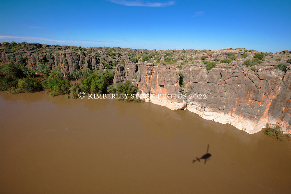 The Fitzroy River cuts through the ancient Devonian reef at Geikie Gorge near Fitzroy Crossing.