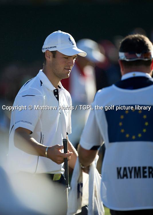 Martin KAYMER (EUR) playing 16th par 4 V Steve STRICKER (USA), Ryder Cup Matches 2012,Medinah CC,Medinah, Illinois,USA.